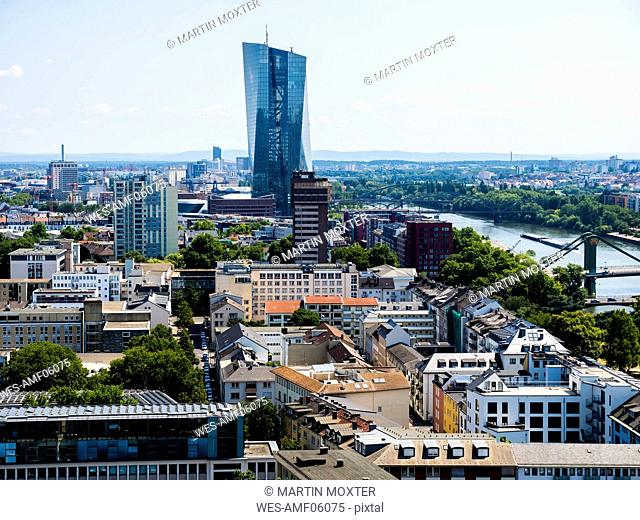 Germany, Hesse, Frankfurt, view to European Central Bank