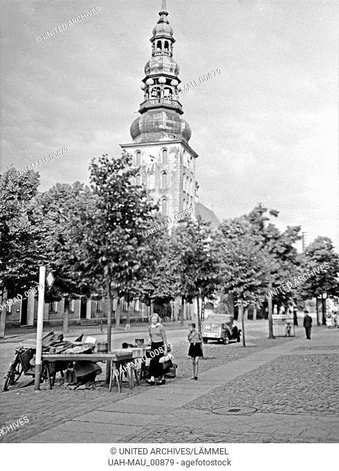 Die Deutschordenskirche in Tilsit in Ostpreußen, 1930er Jahre. Church of the Teutonic Order at Tilsit, East Prussia, 1930s