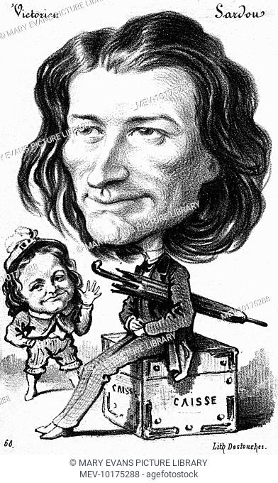 VICTORIEN SARDOU French playwright caricatured