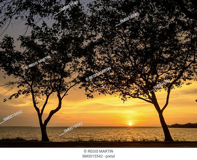 Sunset at East Point near Darwin in the Northern Territory of Australia