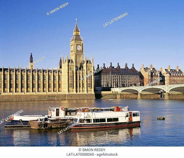 The Palace of Westminster, also known as the Houses of Parliament or Westminster Palace, in London is where the two Houses of the Parliament the House of Lords...