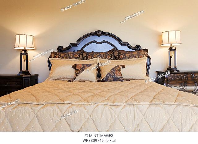 Elegant Bed and Night Stands