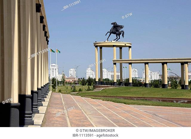 Ashgabat, view from the National Museum over the new residential buildings, Turkmenistan