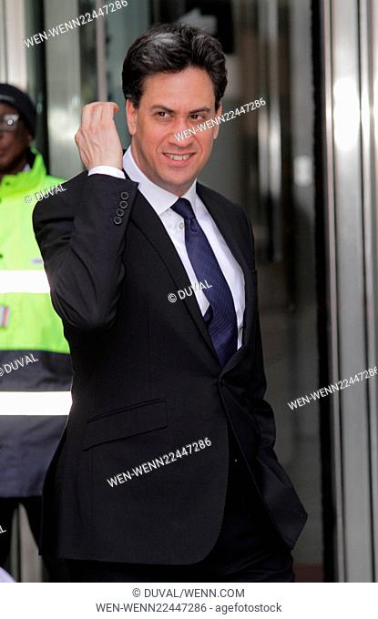 Ed Miliband leaving the BBC studios in Central London Featuring: Ed Miliband Where: London, United Kingdom When: 04 May 2015 Credit: Duval/WENN.com