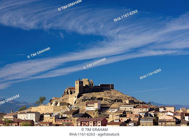 Hill town and citadel of San Vicente de la Sonsierra in La Rioja, Northern Spain
