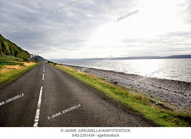 road to the horizon in Isle of Arran. Scotland