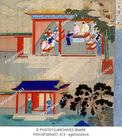 Jint Song from the Song dynasty (960-1280). The Emperor wanted to know which ones, among his subjects, were able to govern his empire at the best