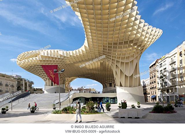 METROPOL PARASOL BY J MAYER H ARCHITECTS IN SEVILLA SPAIN. General exterior afternoon viewSEVILLA, SPAIN, Architect