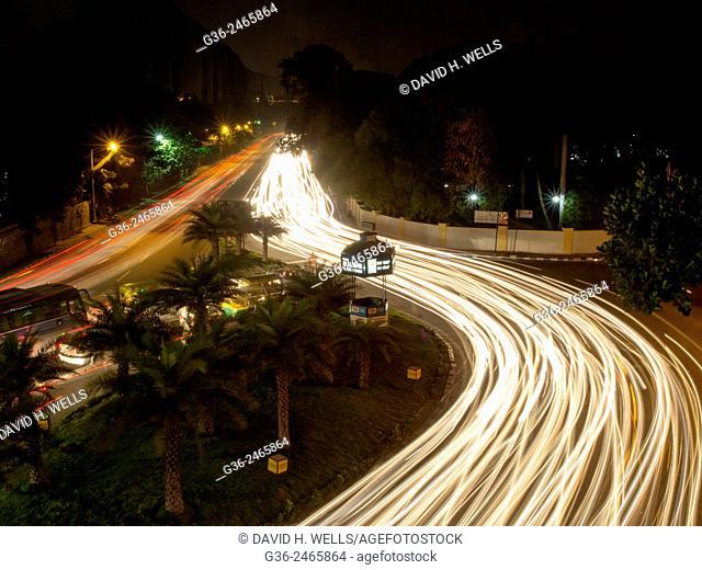 Long exposure at night in Bangalore, Karnataka, India