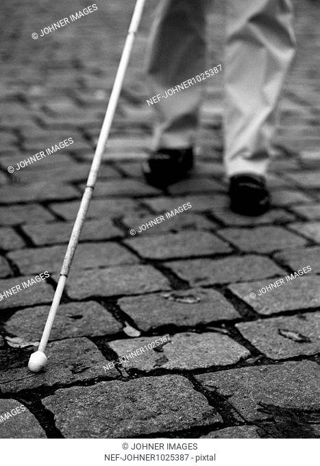Blind Persons Cane, close-up