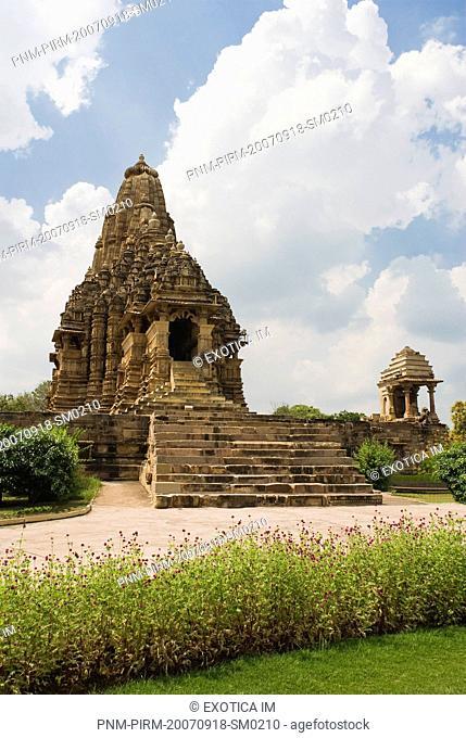 Architectural details of a temple, Kandariya Mahadeva Temple, Khajuraho, Chhatarpur District, Madhya Pradesh, India