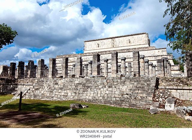 Thousand Pillars - Columns at Chichen Itza, Mexico