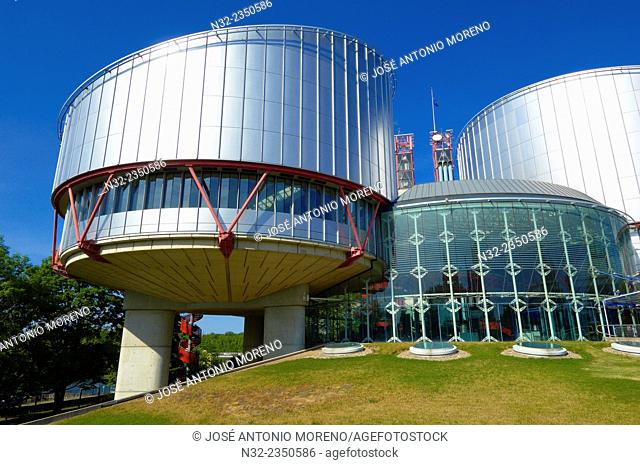 Strasbourg, European Court for Human Rights, UNESCO world heritage site, Alsace, Bas Rhin, France, Europe