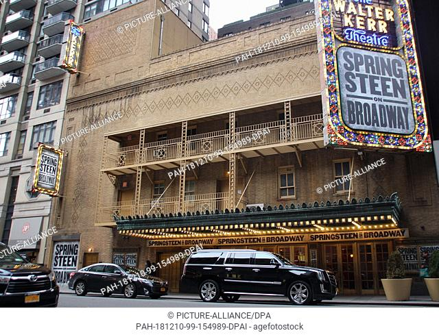 27 November 2018, US, New York: The Walter Kerr Theatre on Broadway...For the past 14 months singer Bruce Springsteen has spent almost every evening on a...