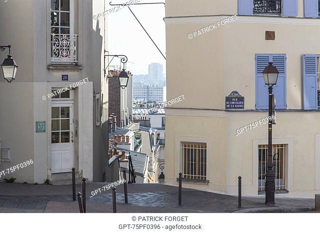 APARTMENT BUILDINGS, PASSAGE COTTIN AND RUE DU CHEVALLIER DE LA BARRE, 18TH ARRONDISSEMENT, PARIS, FRANCE