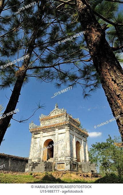 Asia, Vietnam, Hue  Tomb of Bao Dais mother Tu Cung  Designated a UNESCO World Heritage Site in 1993, Hue is honoured for its complex of historic monuments...