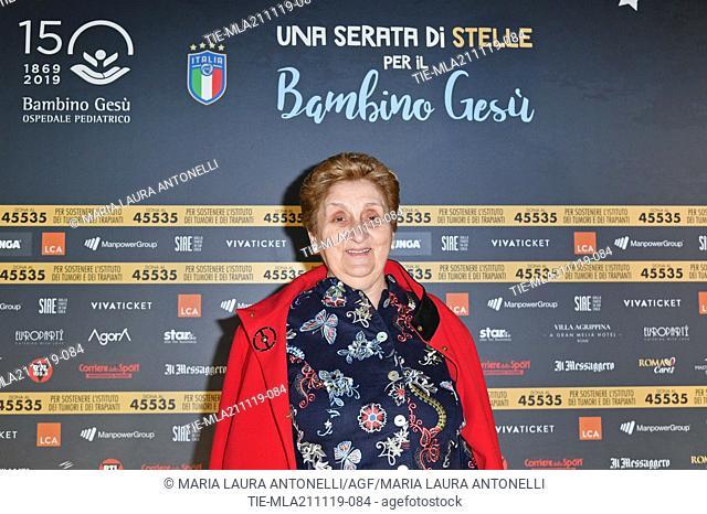 Mariella Enoc President Hospital Bambino Gesu' during the charity show ' Una serata di stelle' for the Hospital Bambino Gesu', Paul VI Hall, Vatican City
