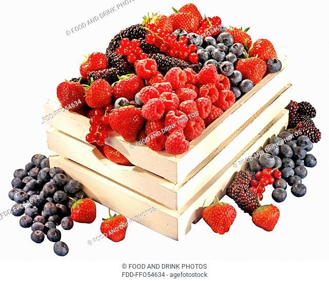 Box Of Fresh Summer Fruit