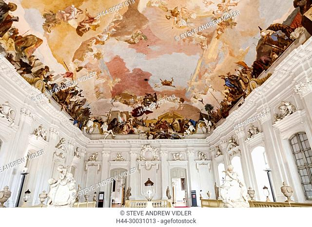 Germany, Bavaria, Romantic Road, Wurzburg, Wurzburg Residence and Court Garden, The Grand Staircase
