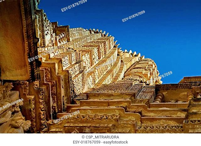 Top of Vishvanatha Temple, Khajuraho, India