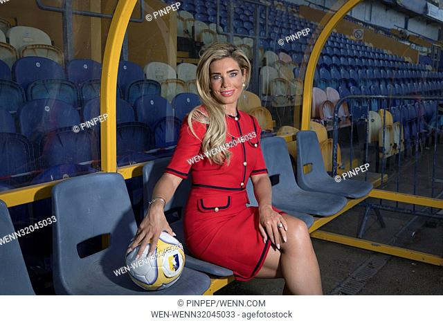Carolyn Radford, CEO of Mansfield Town Football Club pictured in the dugout at The One Call Stadium - Formerly Field Mill - the home of Mansfield Town F