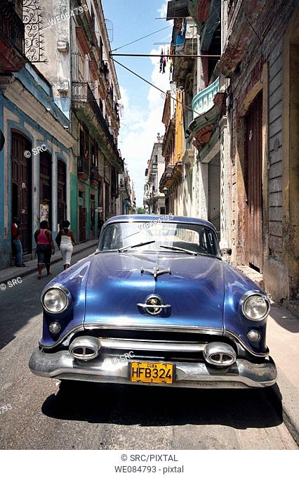 Old car in Old Havana, Havana, Cuba