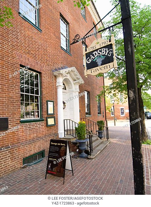Washington DC, USA, Alexandria's Old Town, historic Gadsby's Tavern and Museum