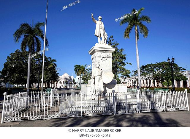 Monument of national hero, poet and fighter for independence Jose Marti in the park, Parque Jose Marti, Cienfuegos, Cienfuegos Province, Cuba