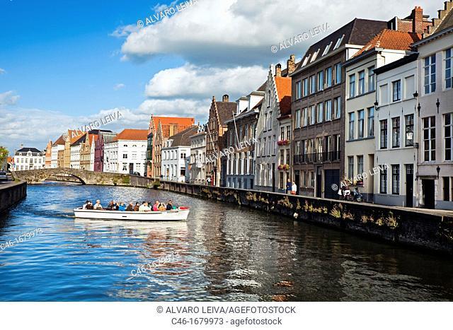 Canal, Bruges, Flanders, Belgium