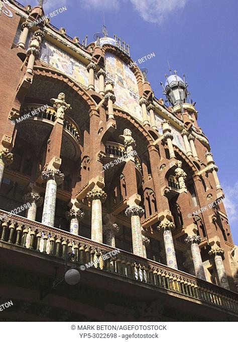 Palau de la Musica Catalana, concert hall, Barcelona, Spain