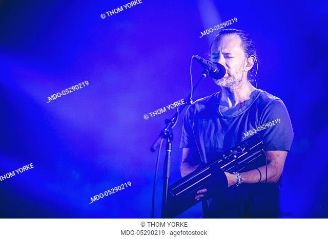 The singer-songwriter and leader of Radiohead Thom Yorke in concert for the iDays Festival 2017 at the Autodromo Nazionale di Monza. Monza, Italy
