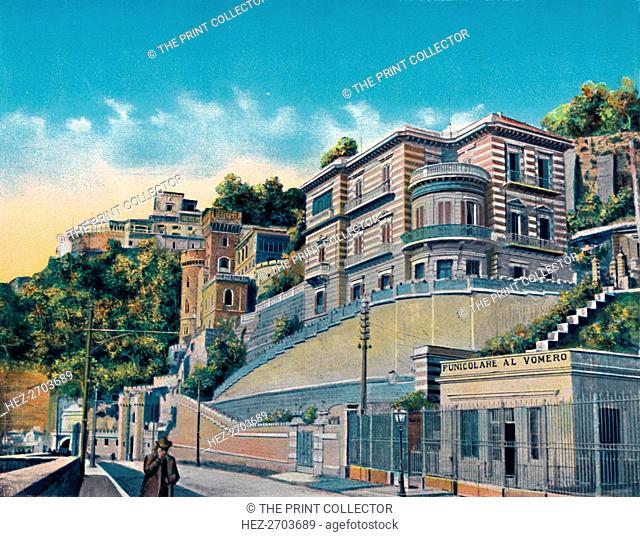 'Napoli - Corso Vittorio Emanuele, Hotel Bertolini E Funicolare Vomero', c1900. Creator: Unknown