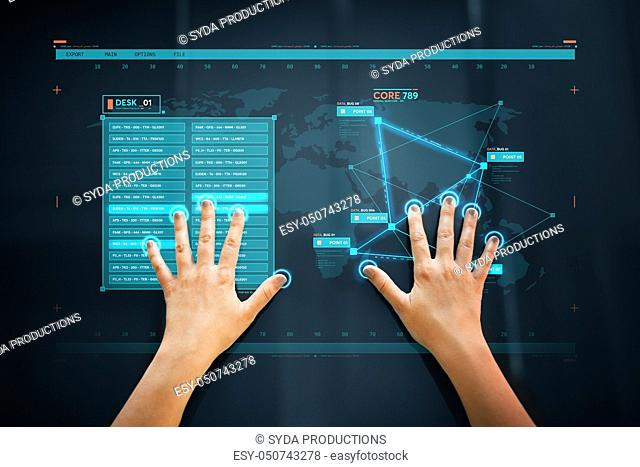 hand scan on touch screen scanning for data access