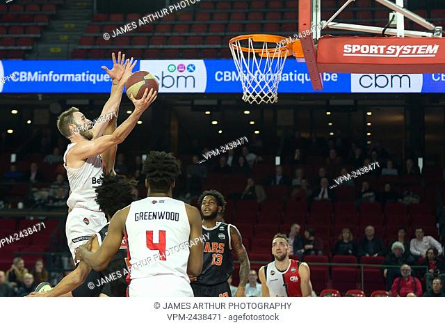 Charleroi's Alexandre Libert pictured in action during the basketball match between Spirou Charleroi and Leuven Bears, Wednesday 04 December 2019 in Charleroi