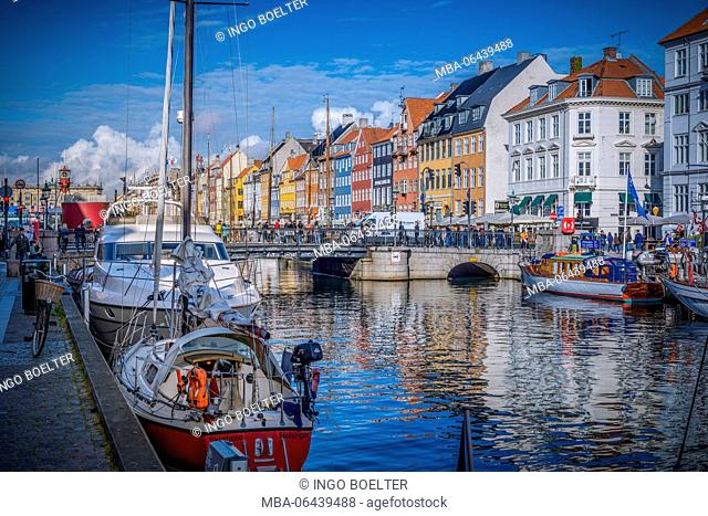 Europe, Denmark, Copenhagen, centre, harbour, Nyhavn, new harbour