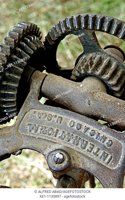 Elements of an old gear transmission