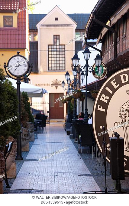 Lithuania, Western Lithuania, Klaipeda, Old Town, market area cafes