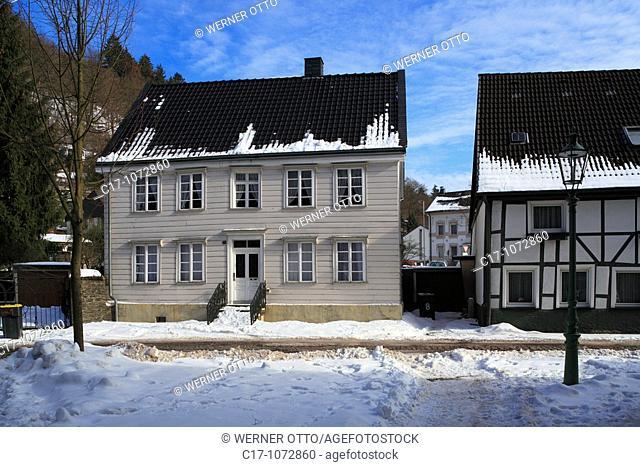 Germany, Plettenberg, Else, Lenne, Lennetal, Lennegebirge, Lennebergland, Sauerland, North Rhine-Westphalia, downtown, old town