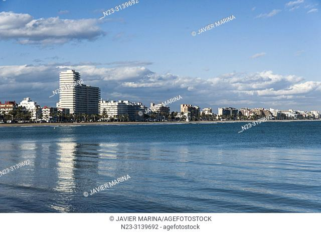 North beach from the base of the castle, Peñiscola, Valencia Province, Spain