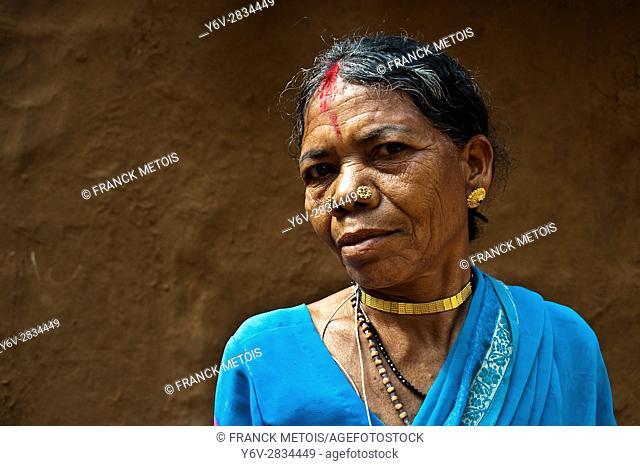 Woman from Bastar region ( Chhattisgarh state, India)