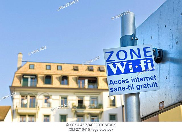 Wi Fi zone, Vevey, Switzerland