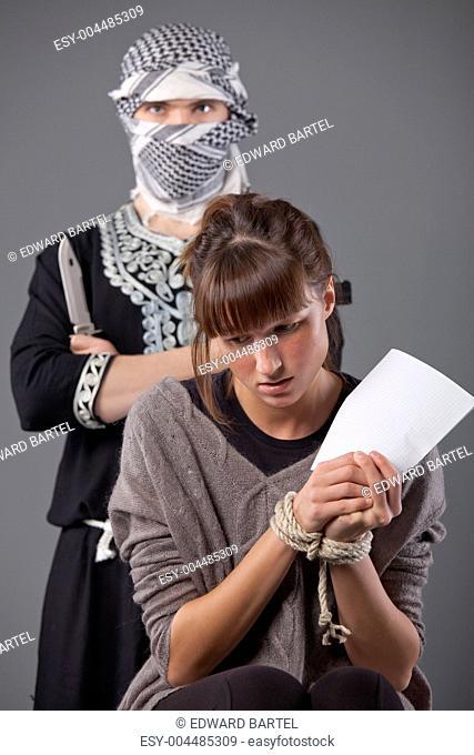 hostage and terrorist