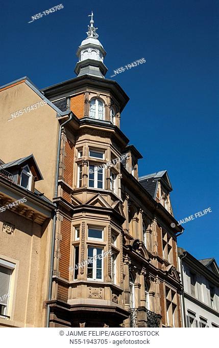 Facade in Freiburg im Breisgau, Baden-Württemberg, Germany