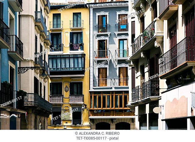 Apartment buildings in Pamplona, Spain