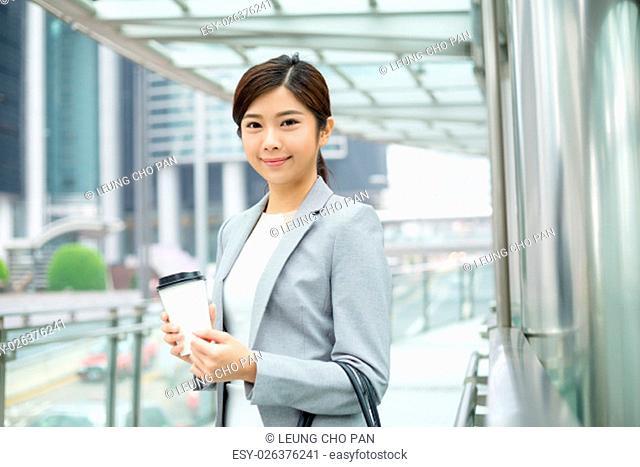 Businesswoman at outdoor in Hong Kong