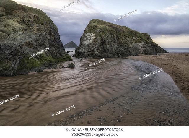 Holywell Bay, Gull Rocks, Cornwall, England, United Kingdom
