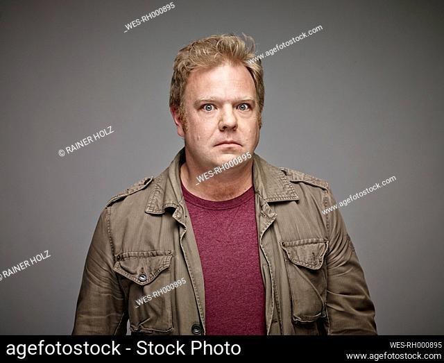 Portrait of staring man
