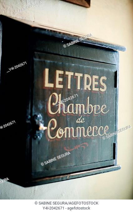 Old letter box. La Tupina. The greedy street. Bordeaux. Gironde. Aquitaine. France. Europe