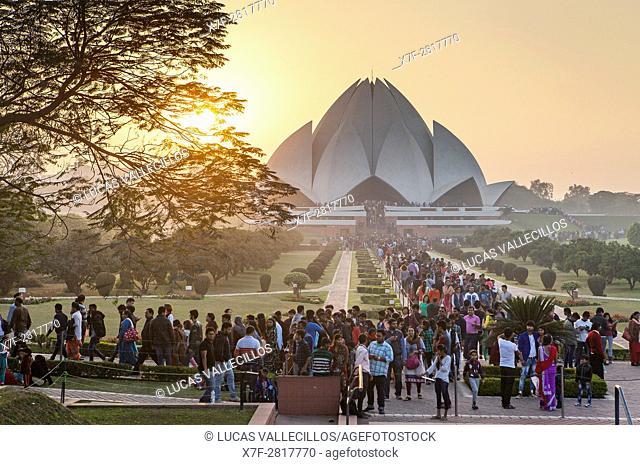 Lotus Temple of the Bahai faith, New Delhi, India