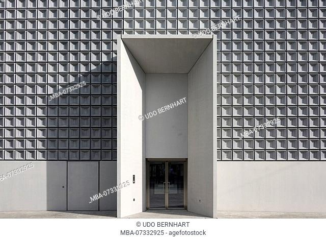 Entrance to the Bündner art museum new building, Chur, Grisons, Switzerland